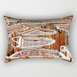 Traditional Lobster Traps Rectangular Pillow