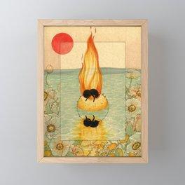 Burning Framed Mini Art Print