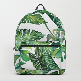 Jungle Leaves, Banana, Monstera #society6 Backpack