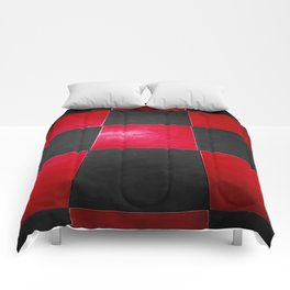 Red and Black Checkers Comforters