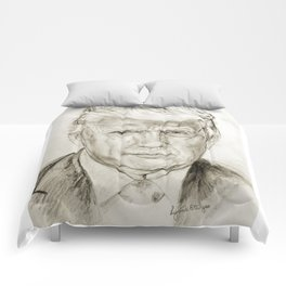 President Donald J Trump by Lydia sturges Comforters