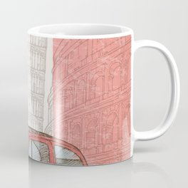 italian flag with colosseum, vintage car, pisa tower and cathedral of milan Coffee Mug