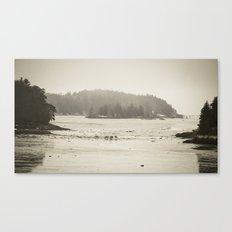 Deer Island at Low Tide Canvas Print