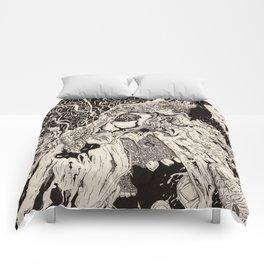 Entanglement (Untitled Face II) Comforters