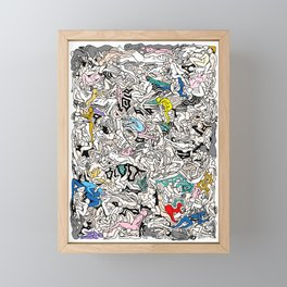 Rainbow LOVE Bodies Framed Mini Art Print