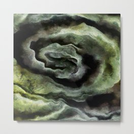 After A Storm In Yellow and Ultimate Gray Abstract Art Metal Print