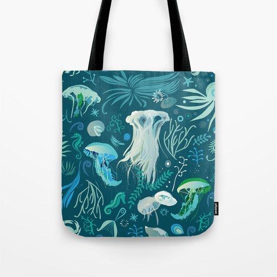 Aqua pattern Tote Bag