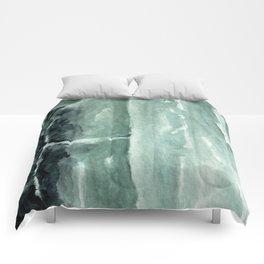 Green Calcite Crystal Watercolor Comforters