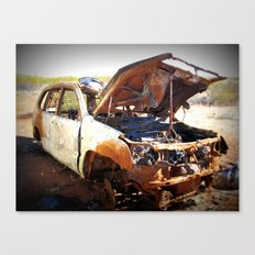 Rusted outback car Canvas Print