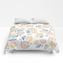 Hand painted watercolor pastel boho dreamcatcher pattern Comforters