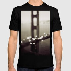 Meet Me In San Francisco (Black and White Edition)  Mens Fitted Tee MEDIUM Black