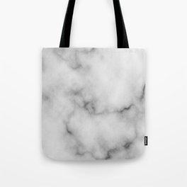 White Marble Pattern Tote Bag