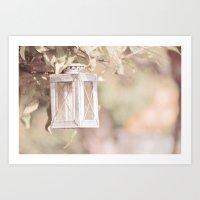 Pastel Lantern Art Print