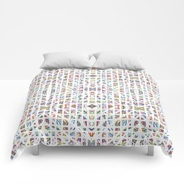 Interrupted Rainbow - a subtle rainbow of colors Comforters