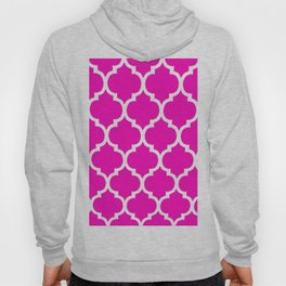 MOROCCAN PINK AND WHITE PATTERN Hoody