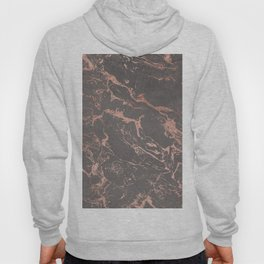 Modern Grey cement concrete on rose gold marble Hoody
