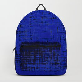 Woven Inkwell Blue and Royal Blue Abstraction Backpack