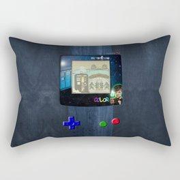 Retro Tardis Doctor Rectangular Pillow