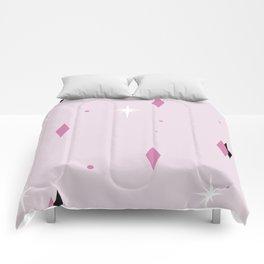 Pink Mid Century Pattern Comforters