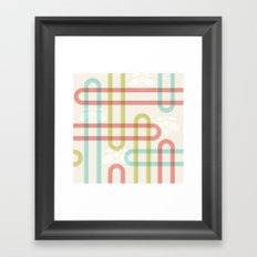 Japanese Pattern: Summer Framed Art Print