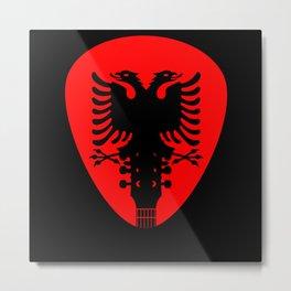Albania Flag Guitar Plectrum Metal Print