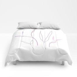 pink petals 1 Comforters