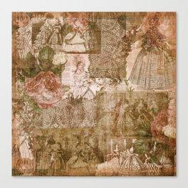 Vintage & Shabby Chic - Victorian ladies pattern Canvas Print