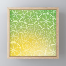 Citrus slices (green/yellow) Framed Mini Art Print