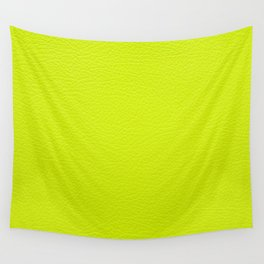 Lime green leather texture Wall Tapestry