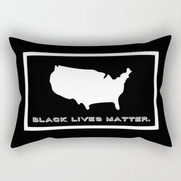 Black Lives Matter America Rectangular Pillow