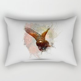 Water Splash Red Tail Hawk Rectangular Pillow