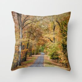 Autumn Passage 2 - Fall Landscape Scene Throw Pillow