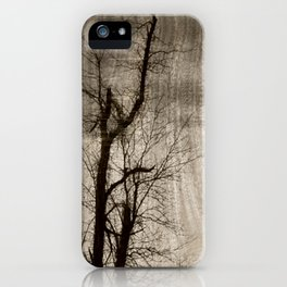 Tree Art In Wood Emulsion iPhone Case