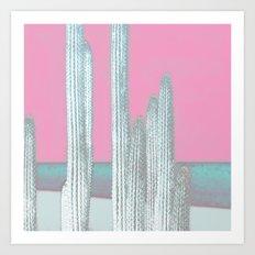 Cactus Pink Art Print