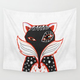 Kaleidoscope Fox Wall Tapestry