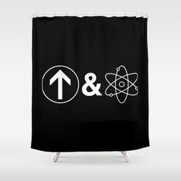 Up&Atom Shower Curtain