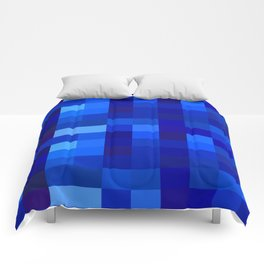 Blue Mosaic Comforters