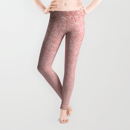Rose Gold Glitter Cascade Leggings