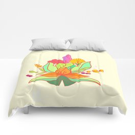 Flower colorful autumn Comforters