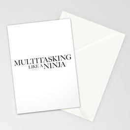 Multitasking Like A Ninja Stationery Cards
