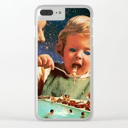 Eat Up Clear iPhone Case