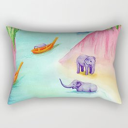 Thailand Travel Poster Rectangular Pillow