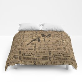 Boston Terrier dog Comforters