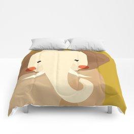 Elephant, Animal Portrait Comforters