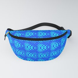 Striped blue hearts on a heavenly background. Fanny Pack
