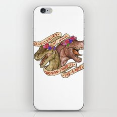 Dinosaur Eat Man. Woman Inherits the Earth iPhone & iPod Skin
