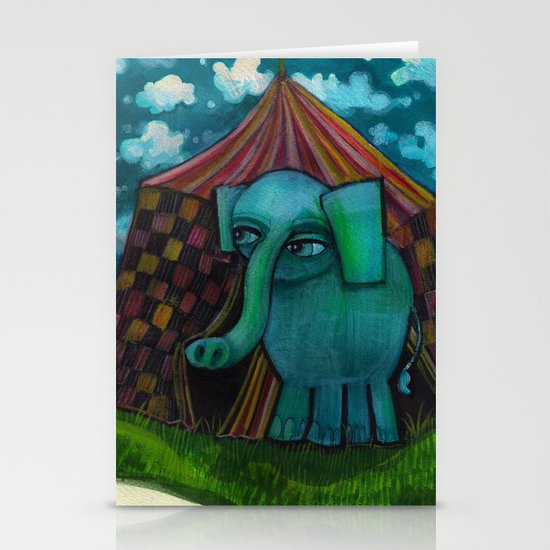 BLUE ELEPHANT.  Stationery Cards