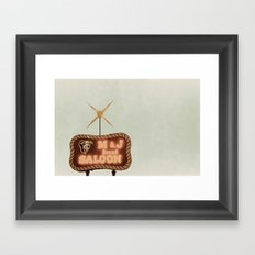 Retro Saloon Sign Framed Art Print