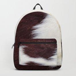 Cowhide Fur Backpack