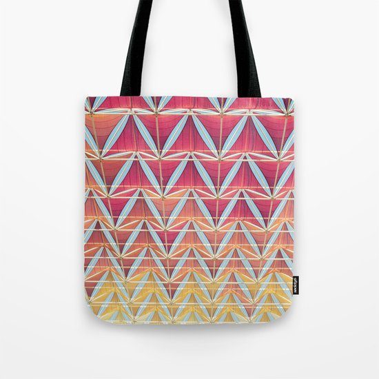 From pink to yellow pattern Tote Bag